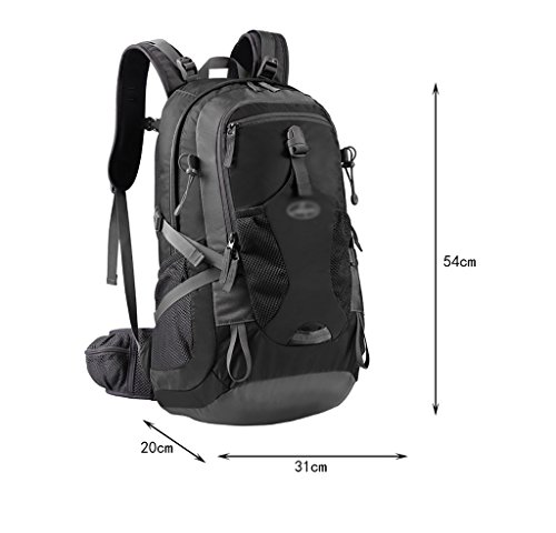 zaino trekking Outdoor Zaino Sport alpinismo Uomini borsa e Donne di corsa della spalla sacchetto impermeabile grande capacità borsa da viaggio Trekking Zaino 40L Zaini da escursionismo ( Colore : A 4 E 40L