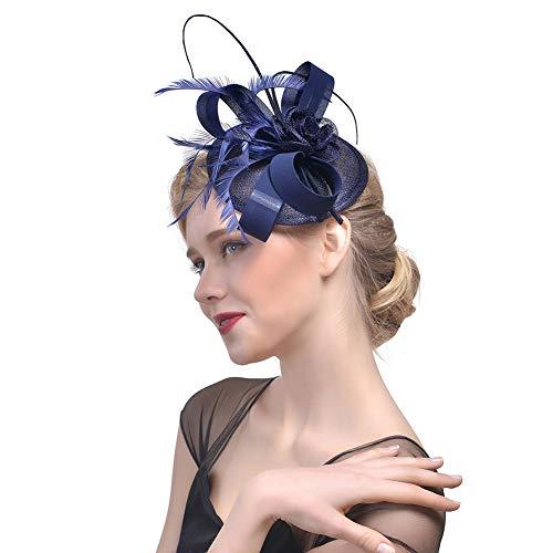 96a26ffdfef2a Y.L Master Décoré Accessoire De Cheveux Coiffure Chapeau Bibi avec Plume  pour Fête Et Mariage Femme