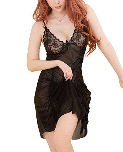 E-Girl Plus Size Drapé Chemise de nuit, Lingerie Sexy Lady, violet Noir