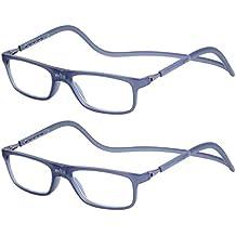 5646ecf89c 2-Pack Gafas de Lectura Magnéticas Plegables para Hombre y Mujer +2.0 (55
