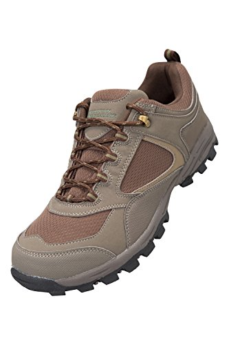 Mountain Warehouse Chaussures Homme Daim Randonnée Marche Baskets McLeod Kaki