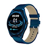 LJSHU Smart Armband Magnetic Charging Herzfrequenz-Überwachung Sleep Sedentary Reminder Multi-Function Sports Watch,Blue