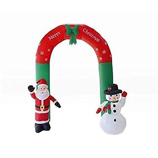 Navidad Inflable Santa Y Muñeco De Nieve 8 Pies Alto Arco Iluminado con Arco LED Decoración De Arte De La Yarda