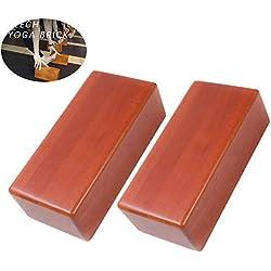 Bloques de yoga de madera, 2 piezas