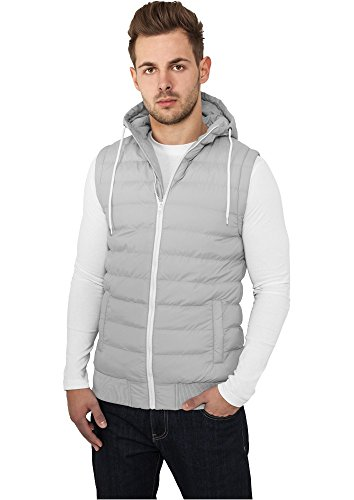 TB510 Small Bubble Hooded Vest Daunen Weste Grey/White
