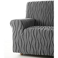 Zebra Textil 42697sofahusse elasticizzato Andromeda, 3posti, grigio - Arredamento - Confronta prezzi