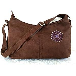 Handtasche/Schultertasche aus Wildlederimitat