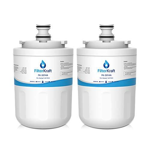 FilterKraft FK-3014A Kompatible Wasserfilter-Kartusche, Ersatz für Maytag Jenn-Air PUR PuriClean UKF7003; Beko AP930; EDR7D1; Lamona HJA6100; Leisure APL13963B (2) - Jenn-air-ersatz