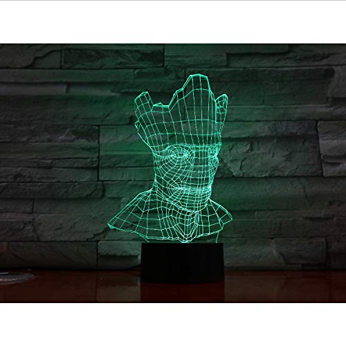 Halloween Lampe Optische Täuschung Bunte Tischlampe Nachtlicht Gravierte Acryl Nachtlicht Crafts Kids
