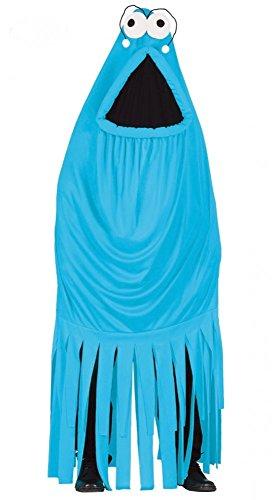 Lustiges Unisex Monster-Kostüm Karneval Herren Damen Junggesellenabschied Spaß witzig ausgefallen, Farbe:Blau