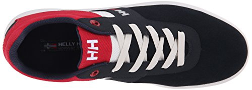 Helly Hansen Bowline, Scarpe Sportive Uomo Multicolore (597 Navy / Chili Pepper / Red)