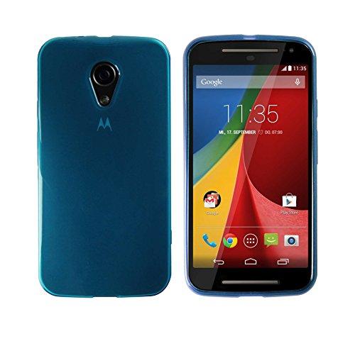 Luxburg® Glaze Design Schutzhülle für Motorola Moto G 2. Generation in Farbe Hellblau, Hülle Case aus TPU Silikon
