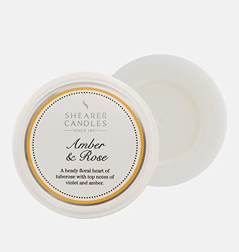 Shearer Candles Tart, Hibiskus Schmelzen, Paraffin Wachs, Duft Öl, Kunststoff, transparent, weiß, gelb, Silber, H: 27mm x W: 74mm (Tuberose-wachs)