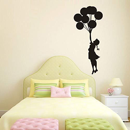 Wall sticker balloon girl inciso creativo camera da letto soggiorno camera dei bambini decorazione adesivi romantici adesivi a palloncino