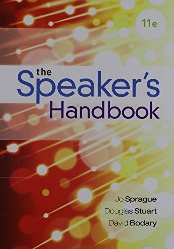 Bundle: The Speaker's Handbook, Loose-leaf Version, 11th + MindTap Speech, 1 term (6 months) Printed Access Card by Jo Sprague (2015-07-07) (Bundle Speaker)