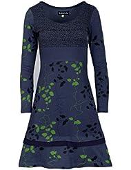 Mesdames été à manches longues feuilles Robe motif Imprimer