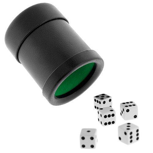 Premium Las Vegas Style Würfelbecher mit 5Würfel-Schwarz/Grün von Koplow Spiele