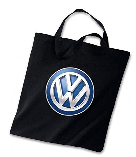 Original VW Baumwoll Tragetasche Schwarz mit VW Logo -