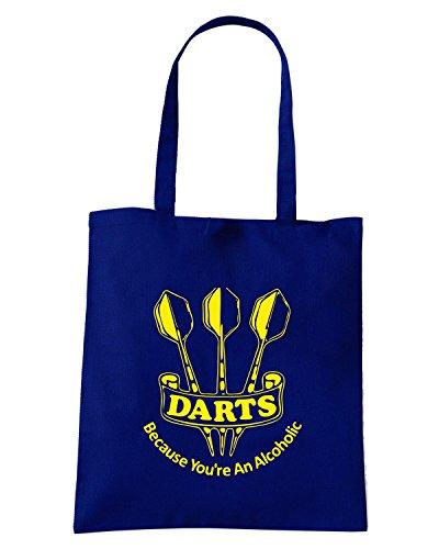 T-Shirtshock - Borsa Shopping FUN1154 darts alcoholic nvy mens cu (2) Blu Navy