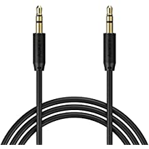 AUKEY Cavo AUX 1.2M 3.5mm Cavi Audio per Smartphone , Mp3 , iPad , Radio , CD/DVD , Laptop , Altoparlante , TV , Auto ecc. - Nero