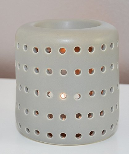Aromalampe Duftlampe Coliseo aus Keramik grau 9,5 cm