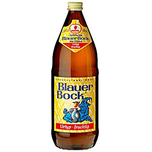 6 Flaschen blauer Bock Apfelwein Urtyp fruchtig 5,5% Vol. a 1000ml