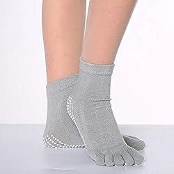 Leoboone Sports Fitness Yoga Calcetines Five-Toe Antideslizante Transpirable Escalada Camping Senderismo Ciclismo Yoga Calcetines de Mujer