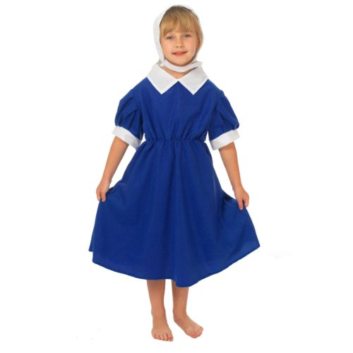 Mary Poppins Childrens Fancy Dress Kostüm - Blue Historical Dress For