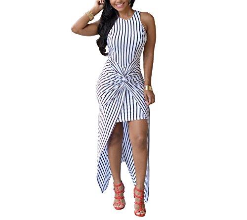 Leezeshaw Damen Kleid Weiß