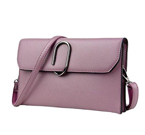 Tracolla Della Borsa Piccola Borsa Messenger Bag Pacchetto Di Ammissione Sacchetto A Chiusura Della Signora Di Modo I Regali Di Natale Purple