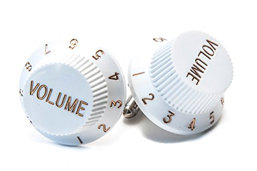 Jeff Jeffers Boutons de manchette en forme de boutons de volume de guitare style rétro original