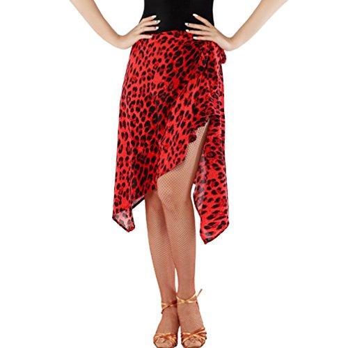 Rongg Lateinischer Tanzrock Für Frauen Latein Tanz-Kostüm Professionel Praxis Kurzer Rock Dreieck Handtuch Training Tanzrock Mehr Farbe, C, One Size