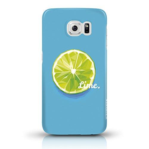 """JUNIWORDS Handyhüllen Slim Case für Samsung Galaxy S6 - Motiv """"Bunter Elefant schwarz"""" Schutzhülle für Ihr Smartphone Limette Design 1"""