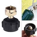 lzndeal Adattatore di Ricarica LP Bombola per bombola di Gas Valvola per regolatore accoppiatore per Serbatoio di propano QCC1 / Type1