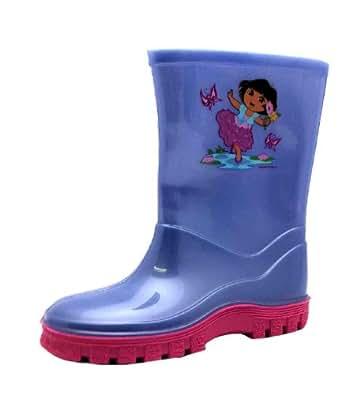 Size 9 Dora The Explorer Girl's Lilpi Rubber Boots