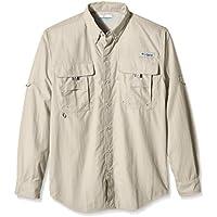 Columbia PFG Bahama II - Camisa de Manga Larga para Hombre, Camiseta, Hombre, Color Fósil, Tamaño Large