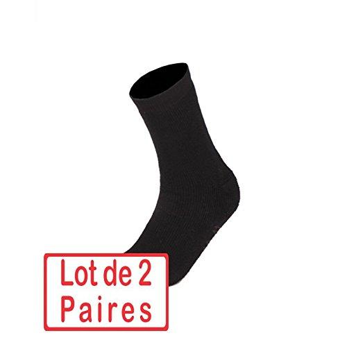 Miltec Lot de 2 paires de chaussettes pour rangers Noires