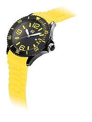 40Nine Mens 40NINE01/BLACK/LEMON Extra Large 50mm Analog Display Japanese Quartz Yellow Watch