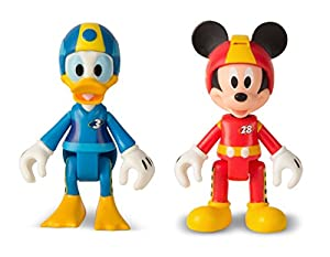 by IMC Mickey and The Roadster Racers 182479 Mickey and Donald Roadster Racers - Lote de 2 Unidades, Color Azul