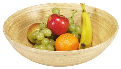Kesper 63025 Obst- und Gebäckschale, Bambus, Maße: ø 25 cm, Höhe: 8 cm -