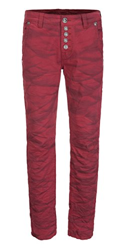 BLUE MONKEY Herren Jeans Slim Fit Jeans Alex-4345 Red 34/32