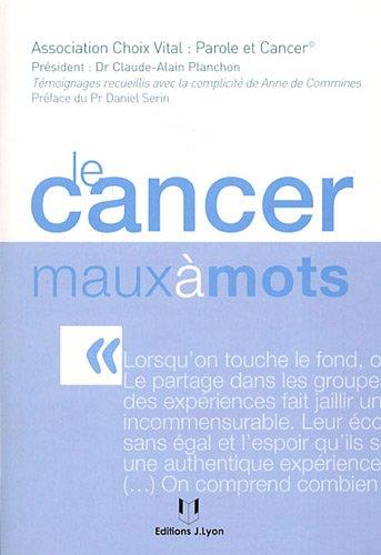 Le cancer maux à mots par Anne de Commines