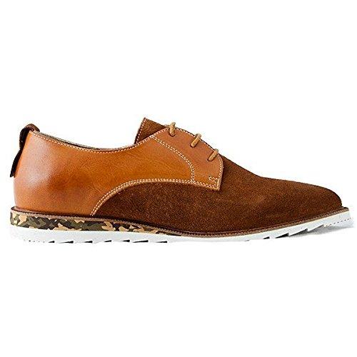 NOBRAND, Chaussures basses homme lacets gris Gris Marron - Marrón