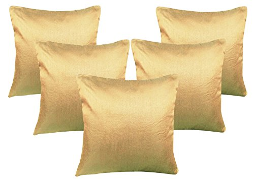 Beige Cushion Covers - Set of 5 (12x12 Inch)