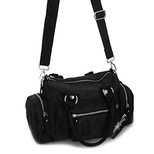 Jennifer Jones–sportiva–borsa da donna alla moda borsa a tracolla borsa da Bowling–präsentiert von ZMOKA® in diversi stili Colori, grigio scuro (grigio) - 0 nero