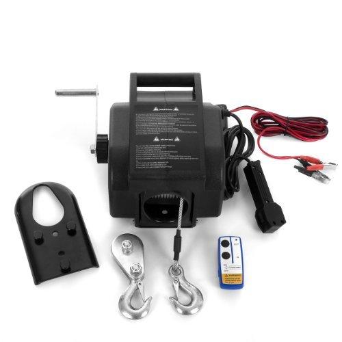 Rotfuchs® EBW01.W 12V Elektrische Seilwinde 2721 KG mit Funkfernbedienung