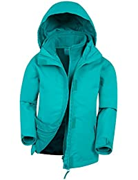 Mountain Warehouse Chaqueta 3 en 1 Fell para niños - Chaqueta informal con cremallera, chaqueta resistente al agua, forro de felpa interior desmontable