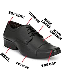 Mens Black Leather Formal Shoes + Party Wear Formal Shoes + Official Formal Shoes