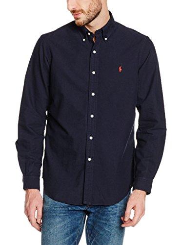 Chemise basique Ralph Lauren bleu marine pour homme Bleu