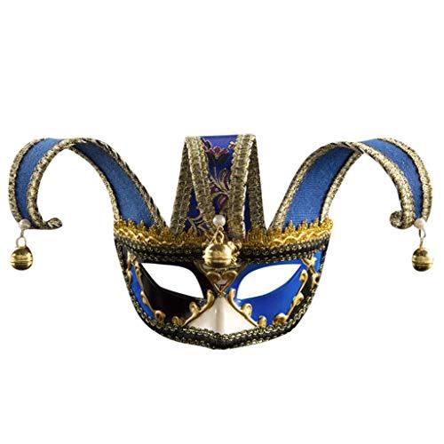 Schädel Zucker Skelett Kostüm - CANDLLY Halloween Dekoration Cosplay Unisex Maskerade Masken Halbes Gesicht Halloween Kostüm Party Augenmaske Herren Damen Halloween Anti-Antike Maske Zubehör
